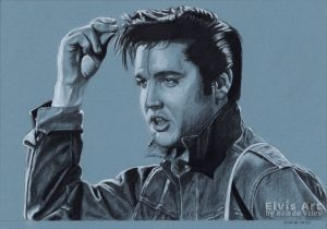 Elvis in Charcoal no.231 by Rob de Vries