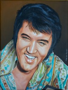 Elvis painting by Rob de Vries