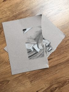 torn up drawing by Rob de Vries
